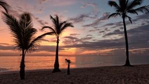 A new day in Bavaro, Dominican Republic.